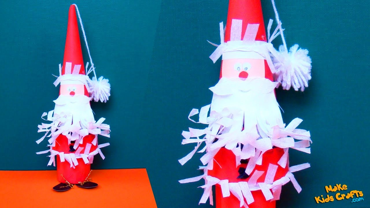 how to make santa claus with thermocol