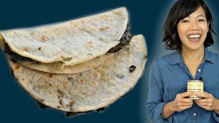 CORN SMUT Taste Test - 🇲🇽HUITLACOCHE Quesadilla & Salsa Recipe