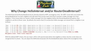 OSPF Timers - Hello and Dead Intervals - Part 2