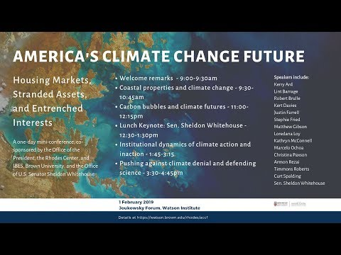 America's Climate Change Future – Session 1: Coastal properties and climate change