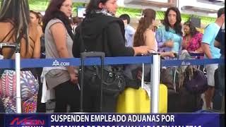 Suspenden empleado de Aduanas por decomiso de drogas en maletas
