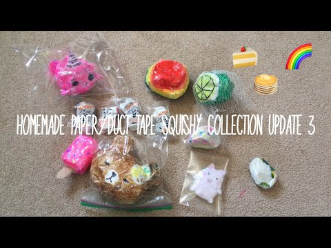 Homemade Paper/Duct Tape Squishy Collection Update 3| Ketchup DIY