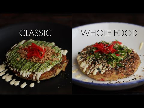 VEGAN OKONOMIYAKI: Classic VS Whole Food (What's the difference?)