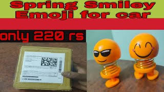 Spring funny Emoji,smiley emoji, smiley toy,face toys for car Dashboard & home in Hindi