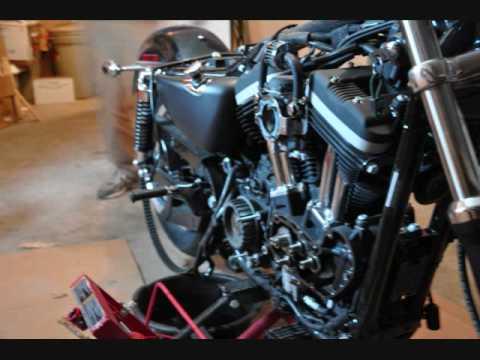 Harley sportster engine removal doovi for Sportster solid motor mounts