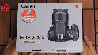 أفضل كاميرا من كانون في الفئة الاقتصادية Canon EOS 2000D Unboxing