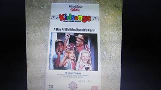 Kidsongs A Day at Old MacDonald's Farm Original 1985 VHS EXTREMELY ULTRA RARE 100% REAL DEAL