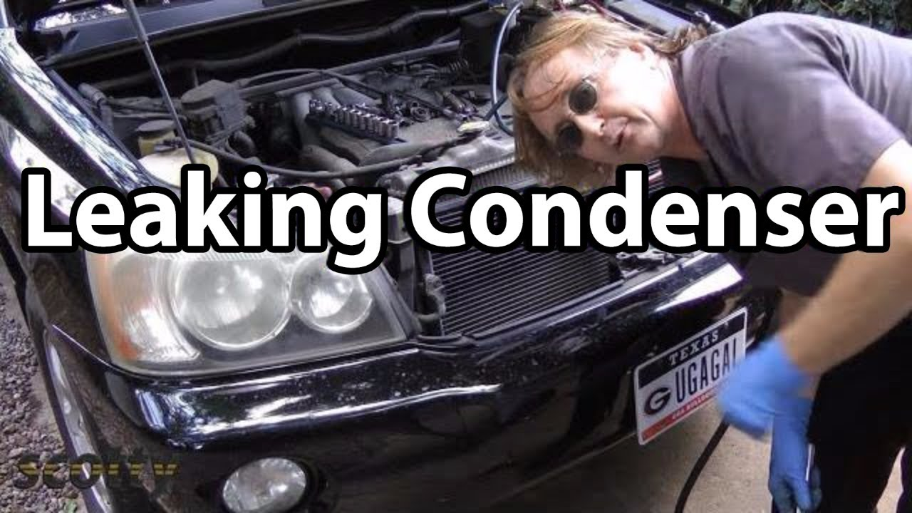 How To Replace A Leaking Ac Condenser Youtube Kondensor Lexus Sc 430