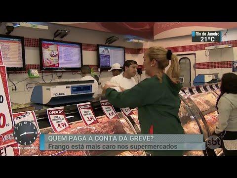 Carne de frango volta mais cara aos supermercados | SBT Brasil (07/06/18)