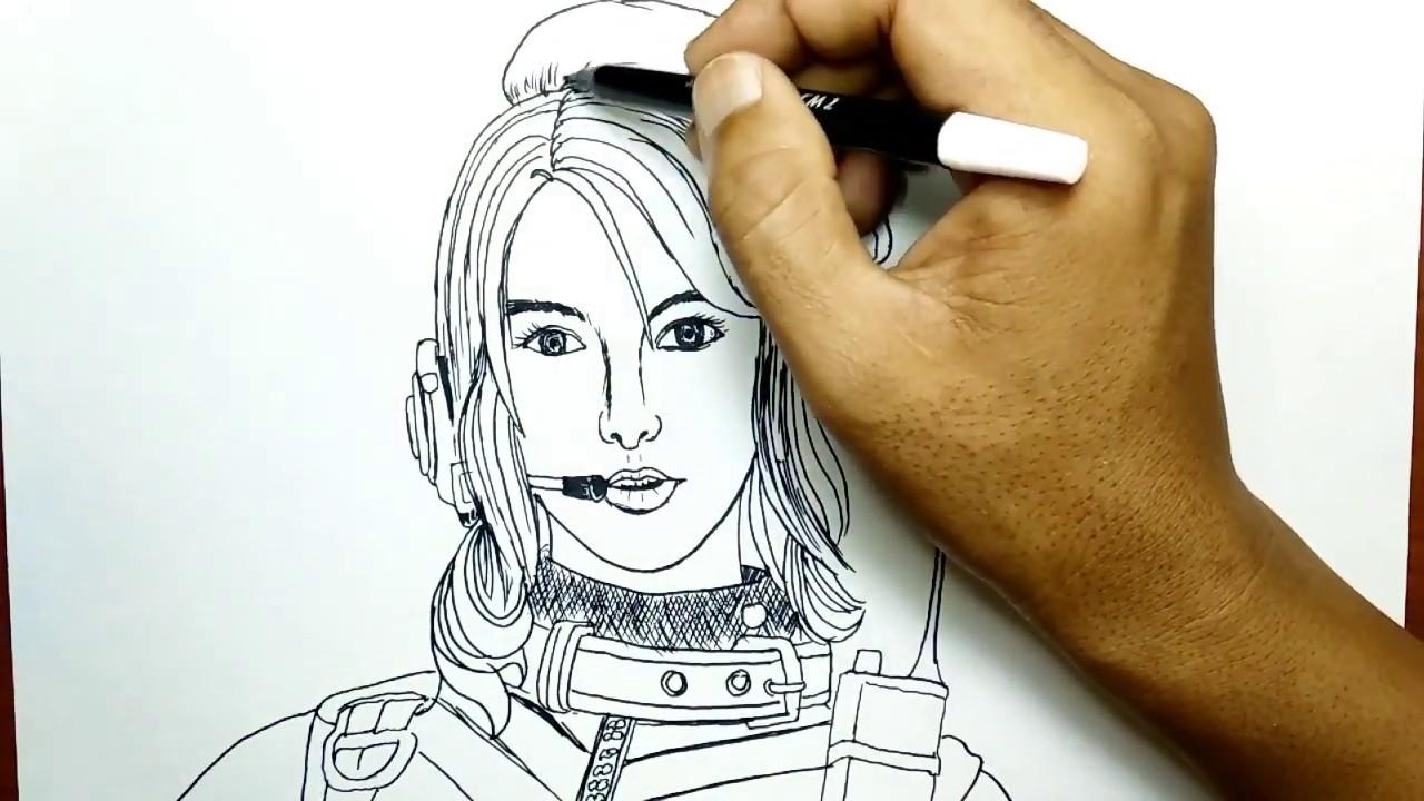 Cara Menggambar Laura Free Fire Dari Namanya Youtube