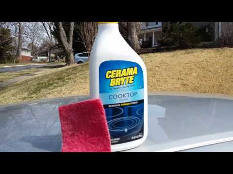 How to clean Headlights with Cooktop Cleaner