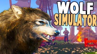 NEW WOLF SIMULATOR! FEED YOUR PUP & AVOID HUNTERS! - Wild Wolf Gameplay
