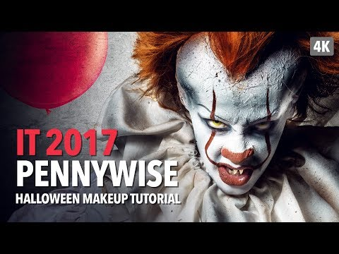 Pennywise Halloween Makeup Tutorial