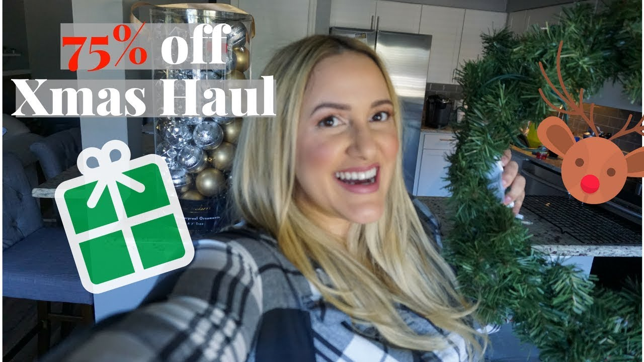 75 off christmas decorations haul vlog 2018