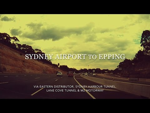 Sydney Airport To Epping Drive (via ED, Harbour Tunnel, LCT, M2)
