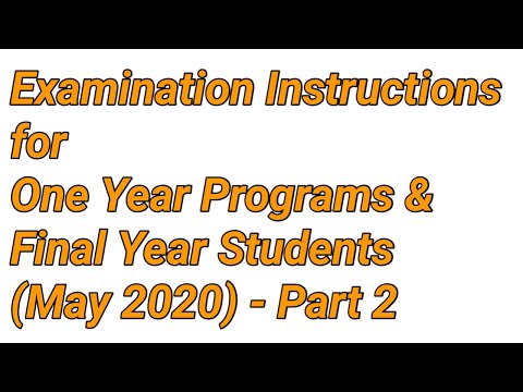 Online Examination Instructions To Final Year Students Annamalai University Distance Education Part2