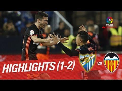 Resumen de Málaga CF vs Valencia CF (1-2)