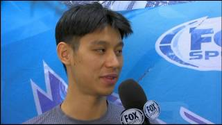 Dell Curry interviews Jeremy Lin - 10/30/15 | Hornets vs Hawks