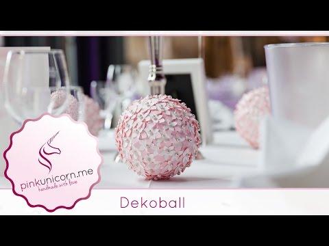 DIY Bastelideen | Deko Kugel basteln | Hochzeitsdeko | Tutorial | PinkUnicorn.me