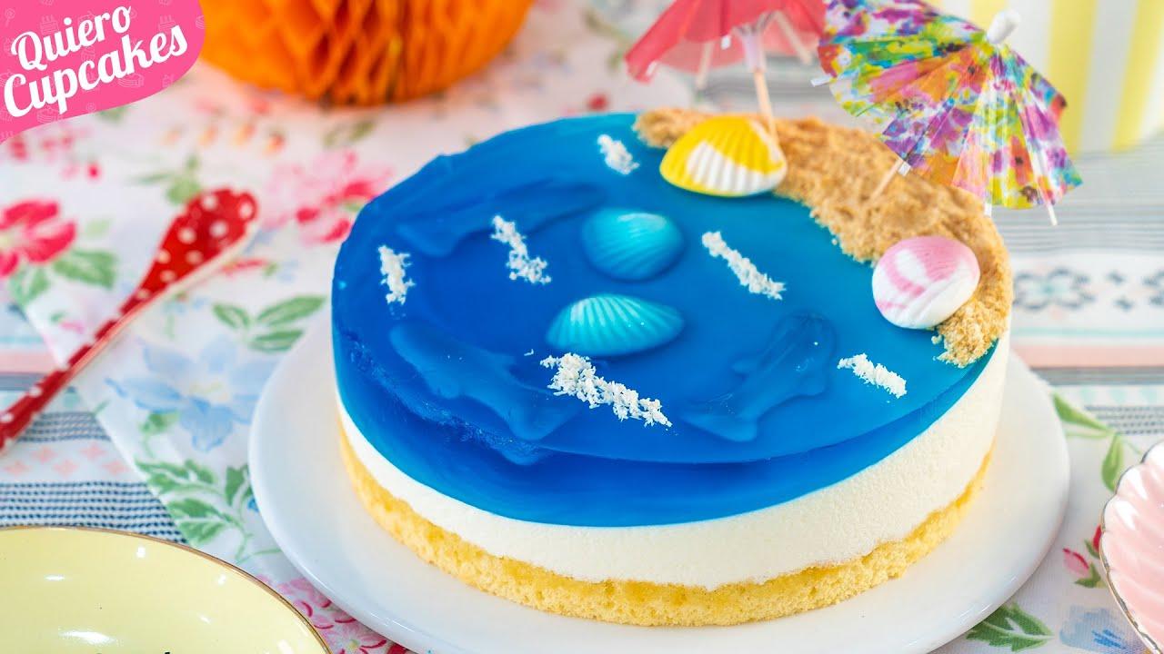TARTA PLAYA ESPECIAL VERANO | OCEAN CAKE | QUIERO CUPCAKES