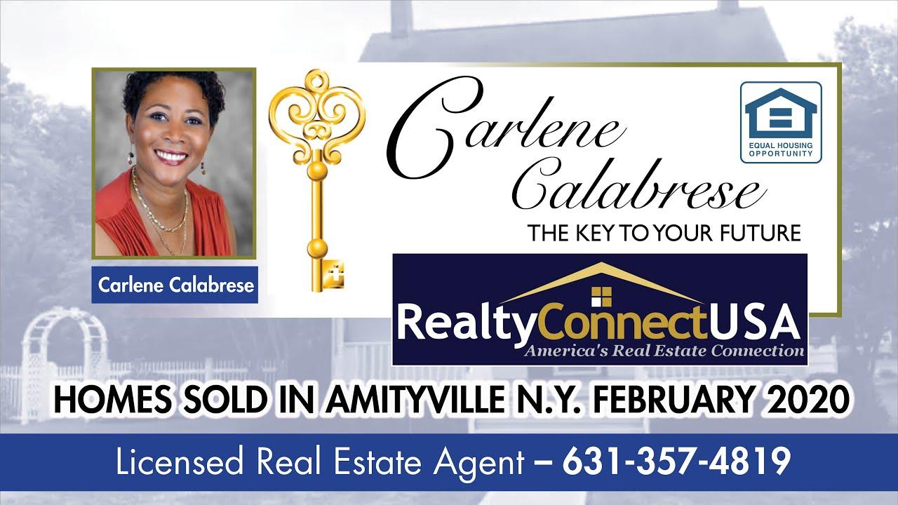 Sold Homes in Amityville NY - February 2020