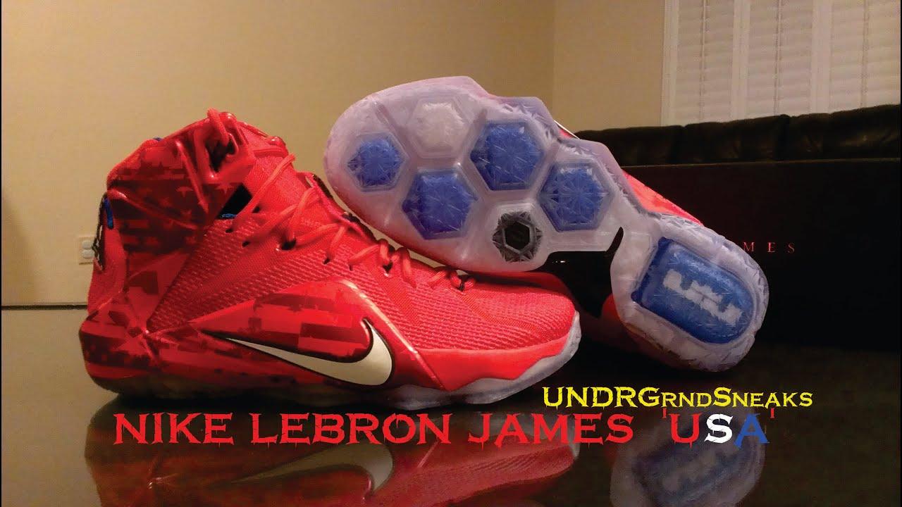 c3b17be97f975 Nike Lebron 12  USA  - YouTube