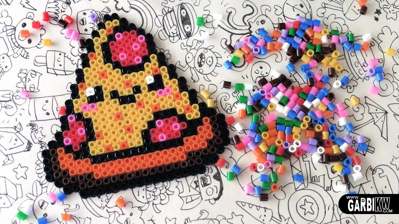 Kawaii Pizza Hama Beads Designs By Garbi Kw Youtube