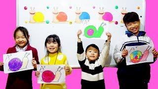 Hunter Kids Go To School Learn Colors Snail | Classroom Funny Nursery Rhymes