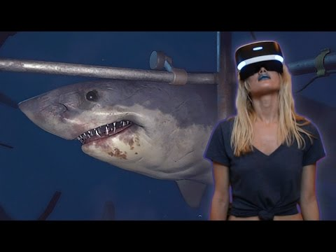 SHARK ALMOST EATS GIRLFRIEND | PlayStation VR Worlds (PSVR)