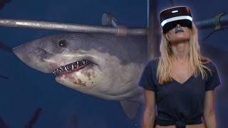 sHARK ALMOST EATS GIRLFRIEND  PlayStation VR Worlds (PSVR)