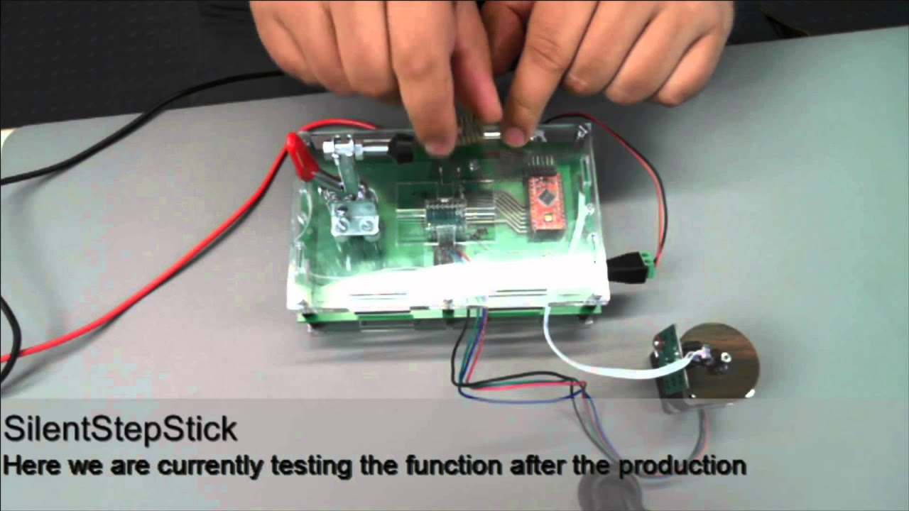 E-Test of SilentStepStick TMC2100/TMC2130/TMC2208 Stepper Motor Drivers