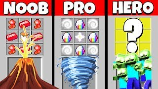 Minecraft Battle: NOOB vs PRO vs HEROBRINE: SUPER APOCALYPSE CRAFTING CHALLENGE / Animation