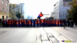 Проход фанатов ЦСКА в Нижнем Новгороде