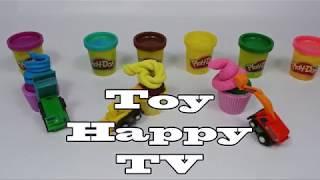 PlayDoh Car Mold and HeavyEquipment Car Truck Toy