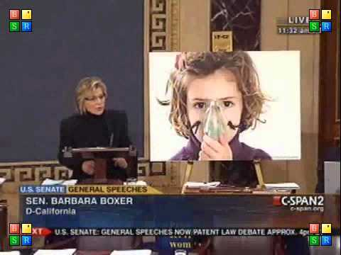 Sen. Barbara Boxer addresses Senate to defend the Clean Air Act