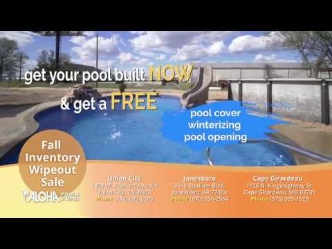 Fall Inventory Wipeout Aloha Pools Spas