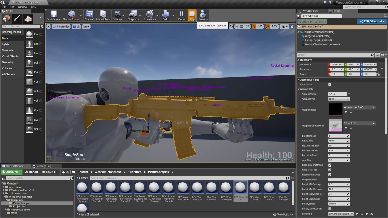 Unreal Engine Fps Weapon Bundle