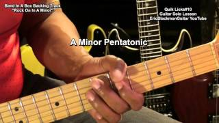 Quik Blues Licks  #10 Guitar Solo Lesson Series EricBlackmonMusic HD