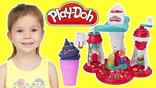 Play Doh Kitchen Creations Ultimate Swirl Ice Cream Maker Youtube
