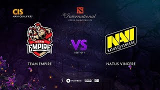 Team Empire vs Natus Vincere, TI9 Qualifiers CIS, bo1 [Lex & 4ce]