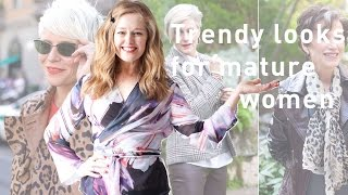 Trendy looks for mature women | Tracy Gold Fashion Tips