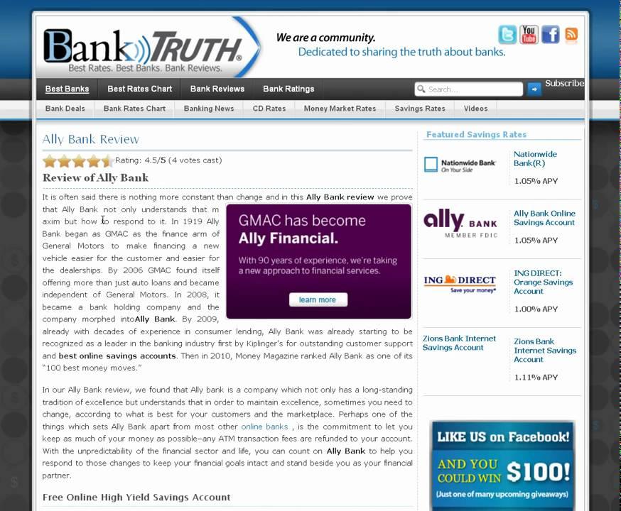 Ally Bank Money Markets