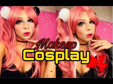#anime#cosply#enoshima#junko maquillaje cosplay Anime