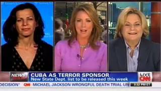 Ros-Lehtinen on CNN discussing why Cuba must remain on State Sponsor of Terrorism list