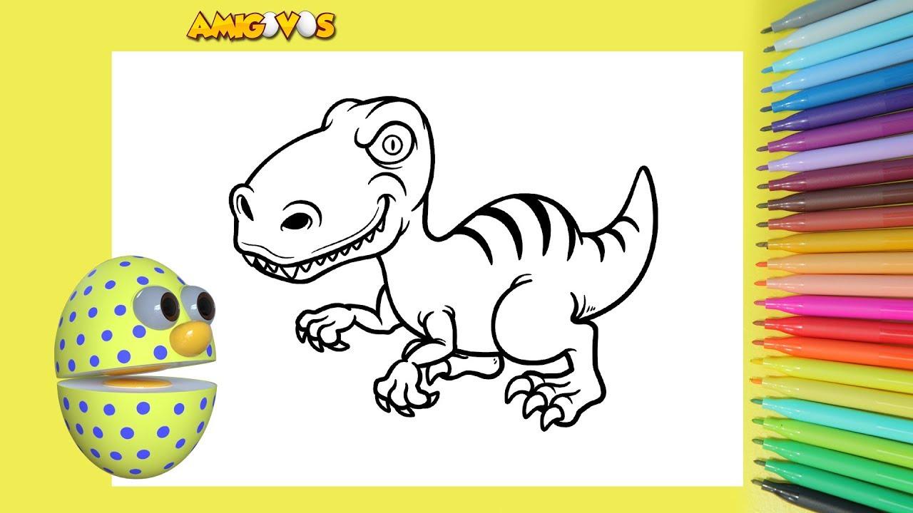 Colorir Amigovos Infantil Dinossauro Pintar E Colorir Atividade