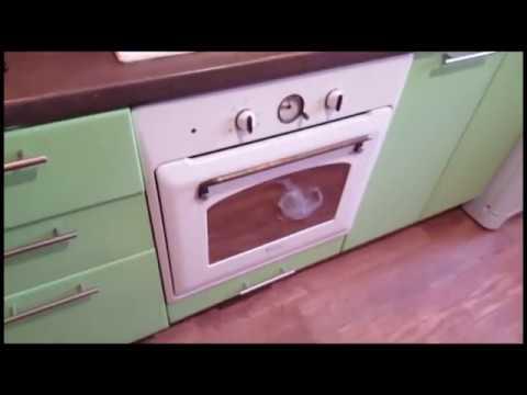 как снять дверцу с духовки.Ariston