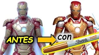 CUSTOMIZANDO/REPARANDO figuras con MARCADORES METALICOS. Customizing figures with metallic markers thumbnail