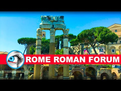 THE ROMAN FORUM - ROME ITALY - 4K 2017 - TRAVEL GUIDE