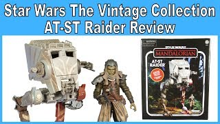 Star Wars The Vintage Collection AT-ST Raider with Klatooinian Raider Review - Best Buy Exclusive