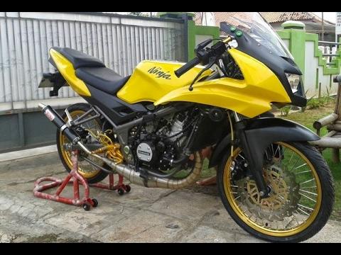 Video Modifikasi Motor Kawasaki Ninja Rr New Velg Jari Jari Keren